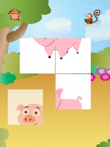 animal tiles for kids - pig - iPad apps for kids
